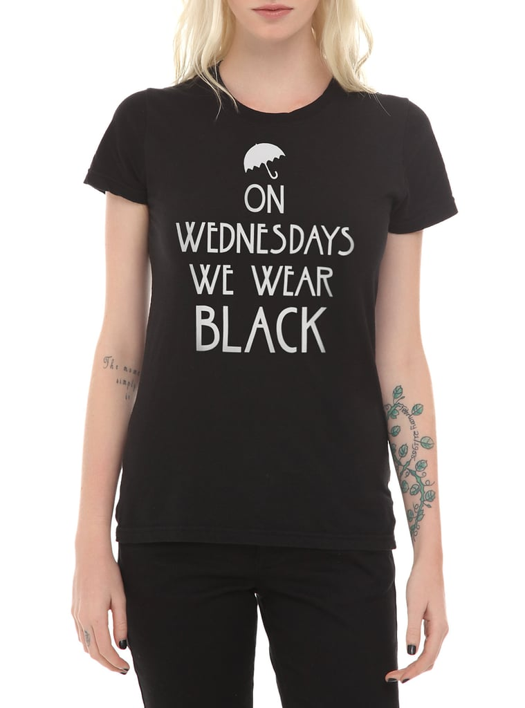 """On Wednesdays We Wear Black"" T-Shirt ($17)"