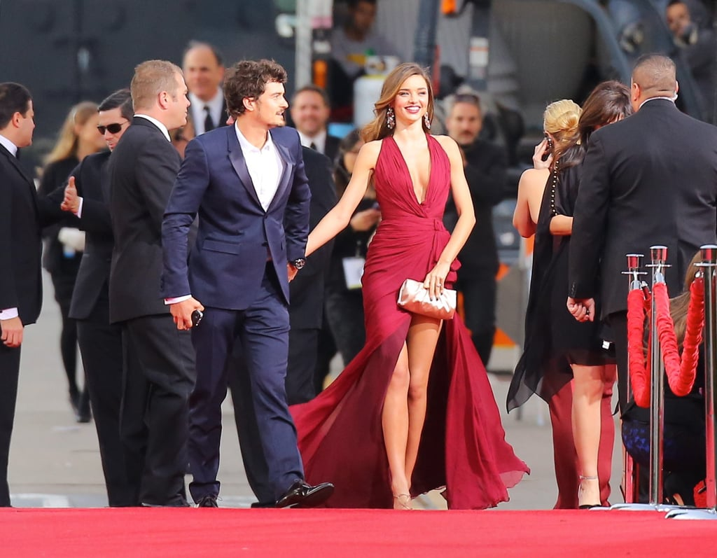 Miranda Kerr and Orlando Bloom attended the 2013 Golden Globes.