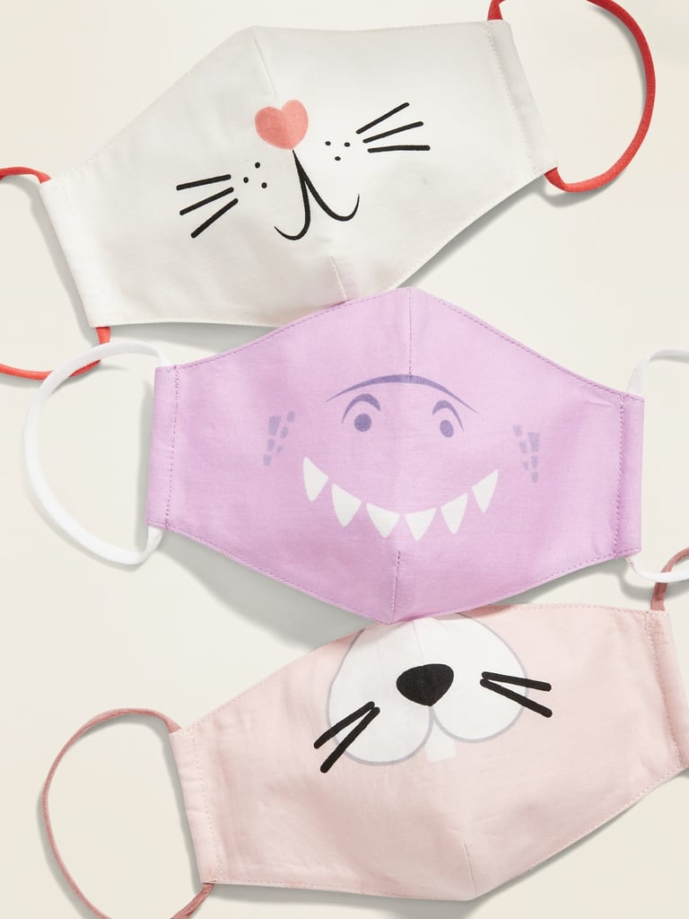 Old Navy Variety 3-Pack of Triple-Layer Cloth Critter Face Masks