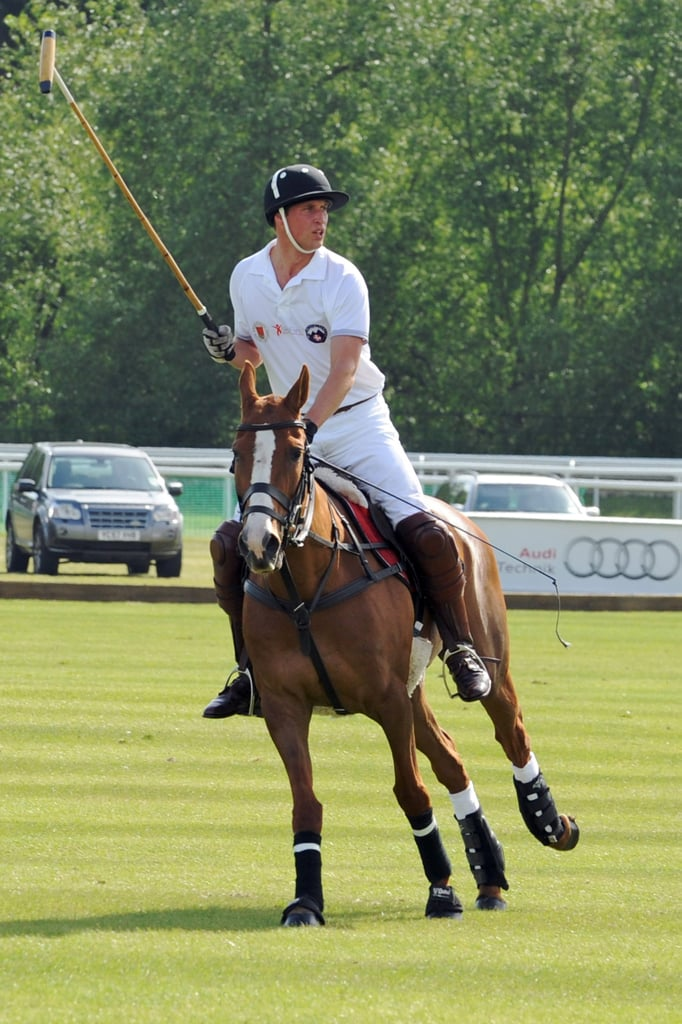 Prince William Playing Polo at the Audi Polo Tournament