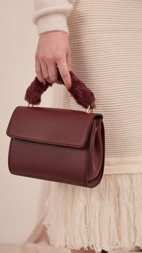 The furry handle will make the LOÉIL Haelo Bag ($89) an everyday staple.