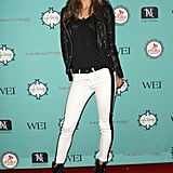 Alessandra Ambrosio struck a sexy pose at Kari Feinstein's pre-Academy Awards style lounge in LA on Thursday night.