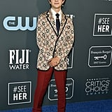 Noah Jupe at the 2020 Critics' Choice Awards
