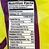 Trader Joe's Ghosts & Bats Crispy Potato Snacks Nutritional Info