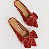 ASOS Design Wonder Pointed Mid-Heeled Bow Mules