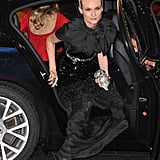 Diane Kruger made a grand entrance at the event.