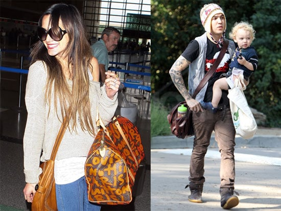 Pictures of Pete Wentz, Ashlee Simpson, and Bronx in LA