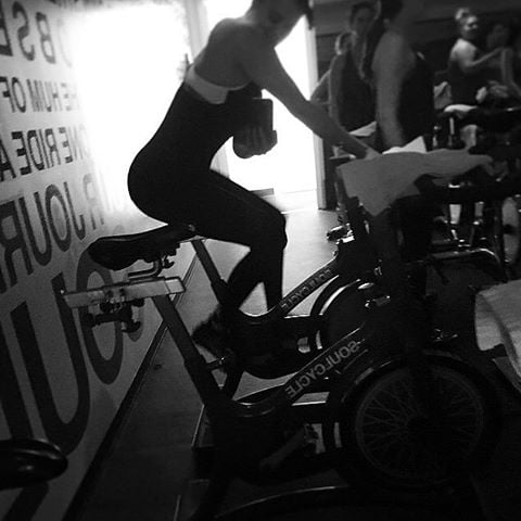 Khloé is all about SoulCycle (we are too!).