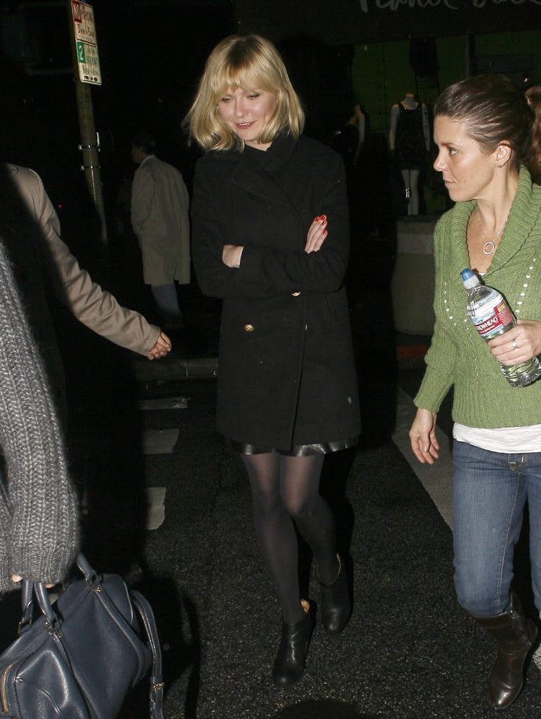 Kirsten Dunst left a movie theater in Santa Monica last night after a weekend spent holiday shopping with her boyfriend, Rilo Kiley drummer Jason Boesel. The actress is enjoying her own return to the big screen in the newly released All Good Things and recently opened up about working with Ryan Gosling on the thriller. Kirsten's back home in LA just in time for the holidays since heading to NYC to premiere the movie earlier this month. She went solo to the event and kept mum when reporters on the red carpet asked her to comment on her ex Jake Gyllenhaal and his new romance with Taylor Swift.
