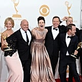 The Breaking Bad cast was excited about their Emmy win on Sunday.