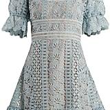 Self-Portrait Floral-Lace Mini-Dress