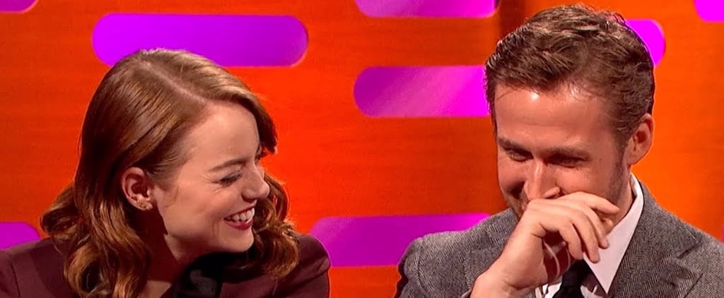 Emma Stone and Ryan Gosling on Graham Norton Show Jan. 2017