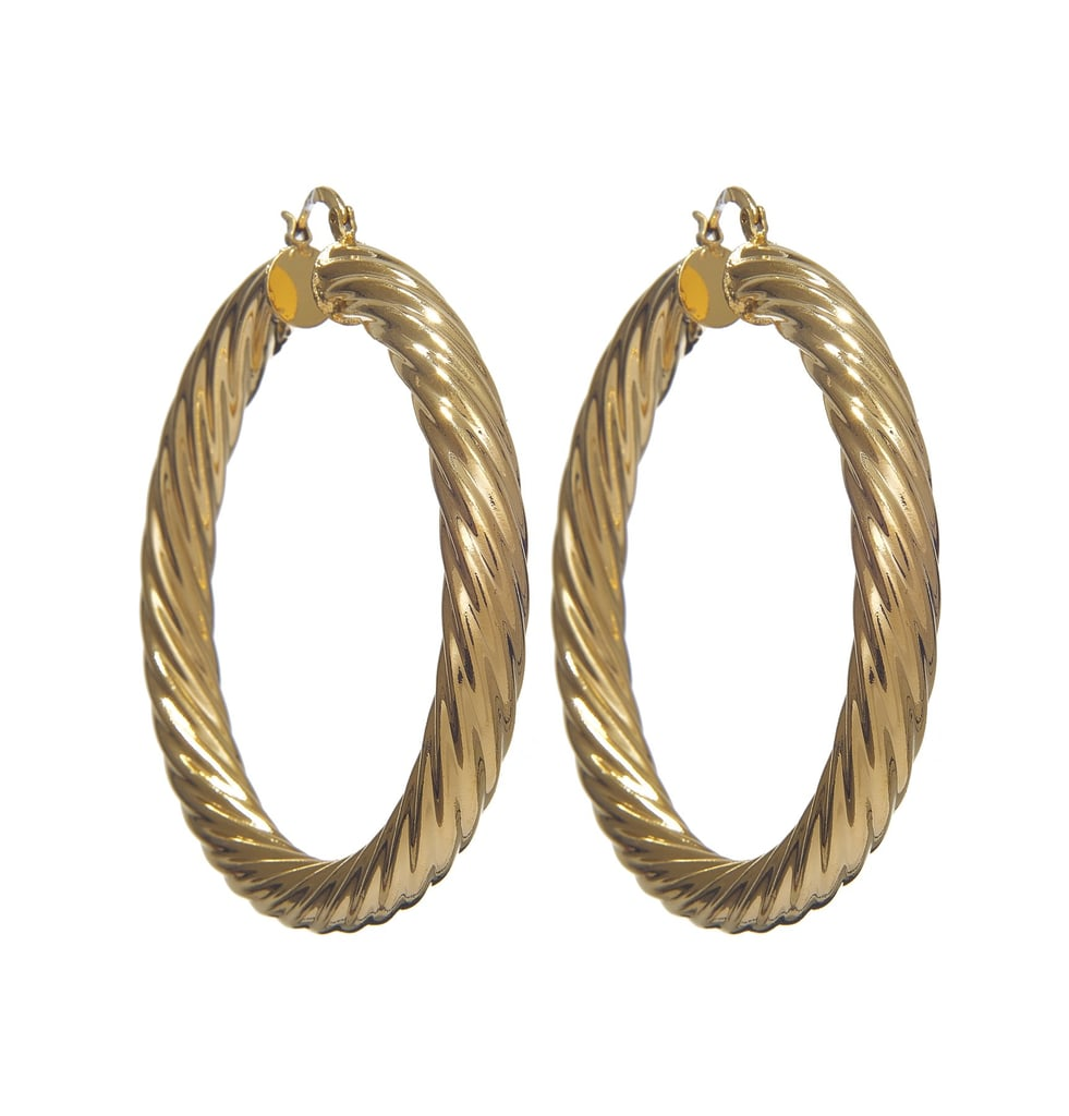 VibeSzn Gold Twist Hoops