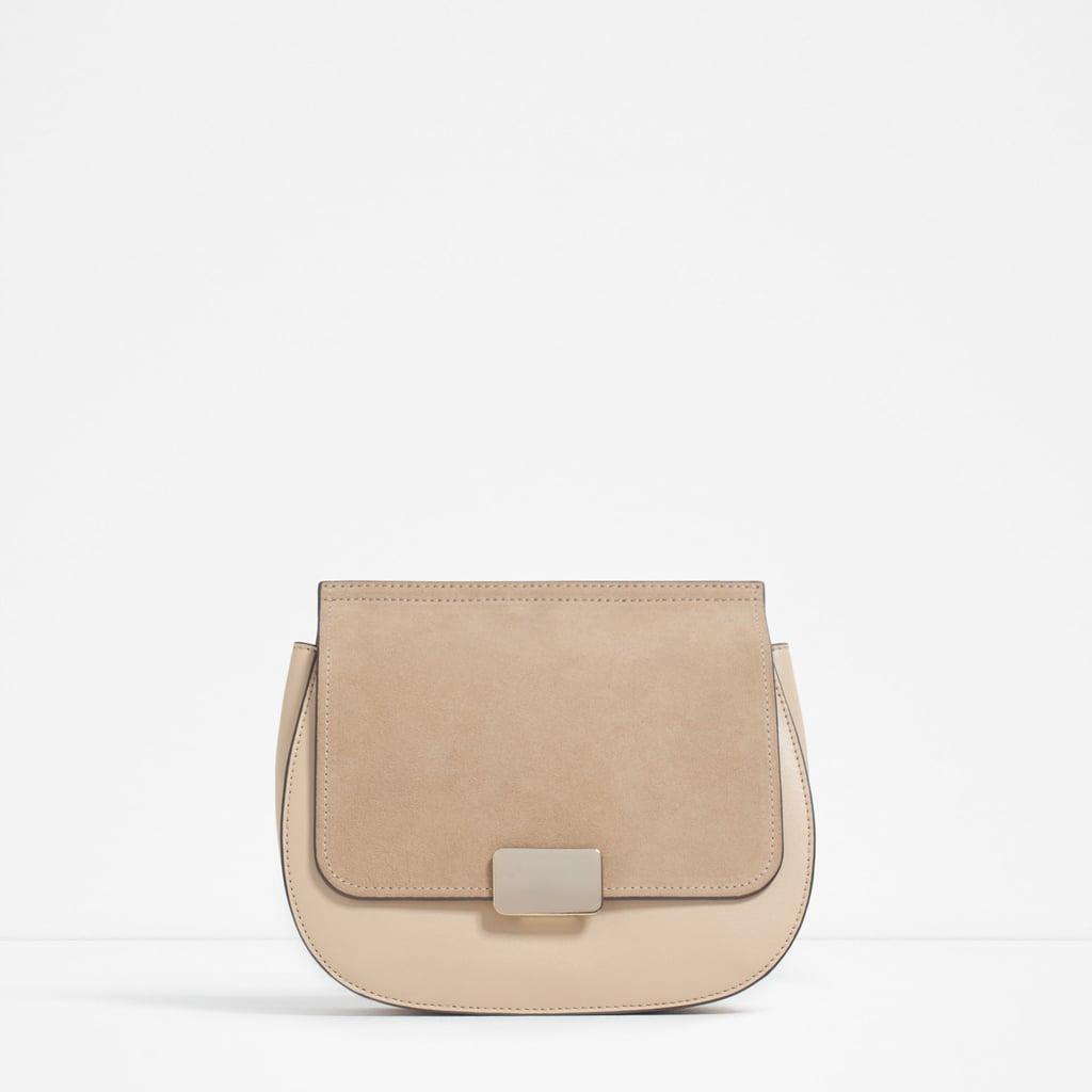 Contrast Material Cross-Body Bag ($50)