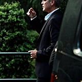 George Clooney headed for a dinner date.