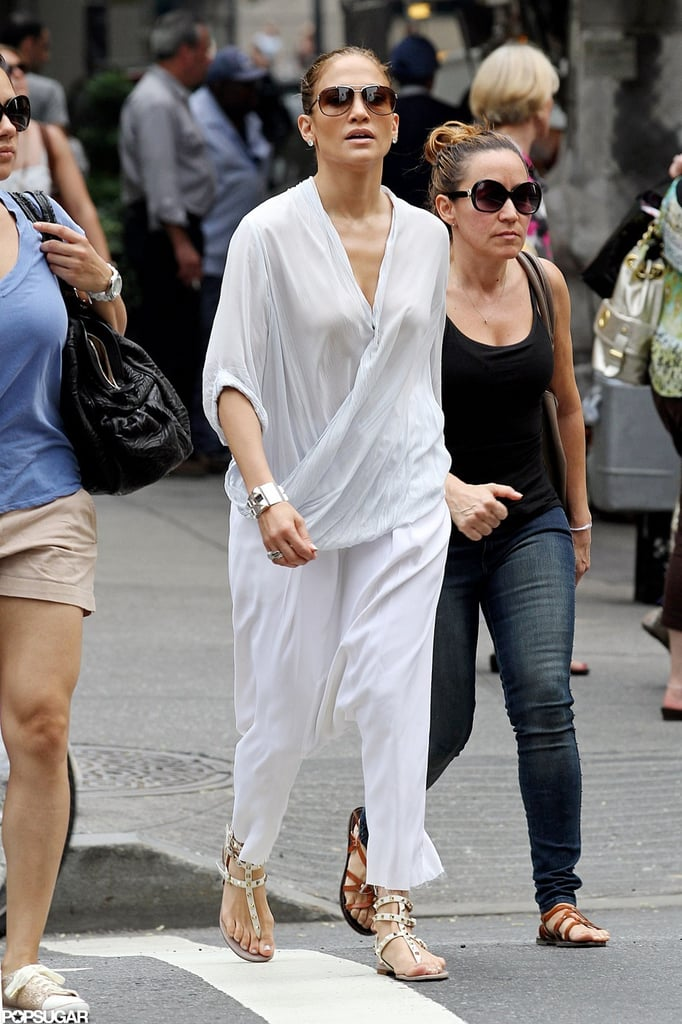Jennifer Lopez hit the streets in NYC.