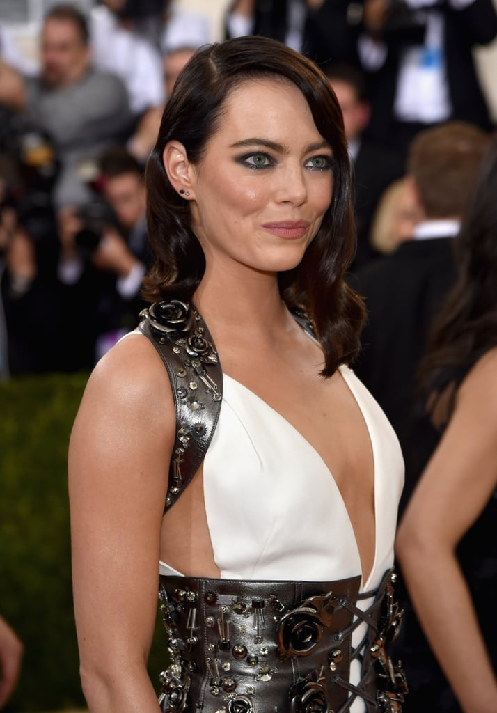 Emma Stone is Brunette at the Met Gala