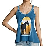 Chaser LA Blue Jersey Knit Cotton 'Sunset' Horse Print Tank Top ($59)