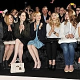 Laura Carmichael, Michelle Dockery, Michelle Williams, Lizzy Olsen, and Lana Del Rey posed at Mulberry.