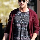 Ryan Gosling wore sunglasses out and about in NYC.