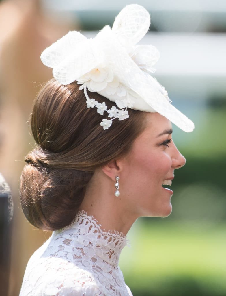 An Inverted Croissant Bun Best Kate Middleton Hairstyles - Croissant hairstyle bun