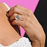 """While Jennifer admitted back then she took a while to get """"used to it,"""" since she wasn't a """"diamond girl,"""" Jen wore the ring on every red carpet after receiving it."""