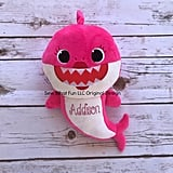 Personalized Pink Mommy Shark Plush Doll