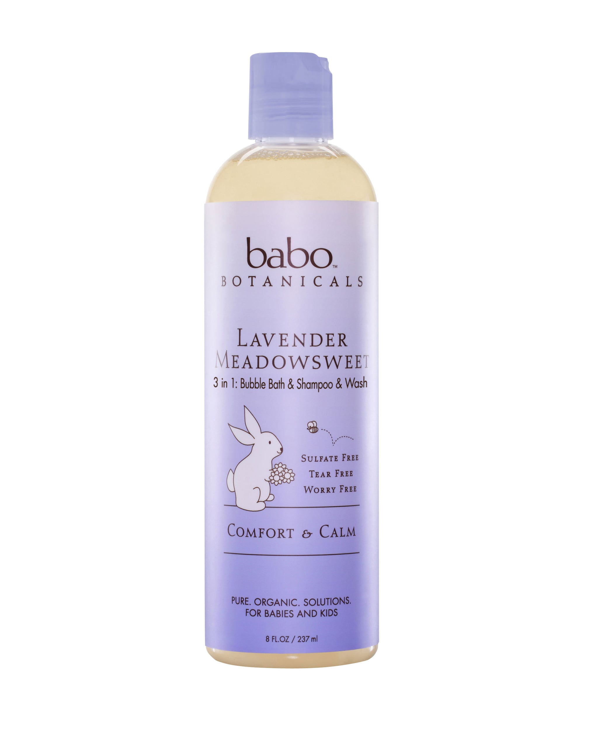 Babo Botanicals Lavender Meadowsweet 3 in 1 Bubble Bath Wash