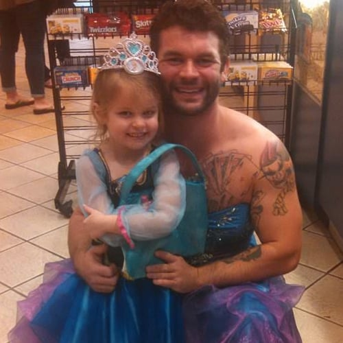 Uncle Dressed Up as a Princess