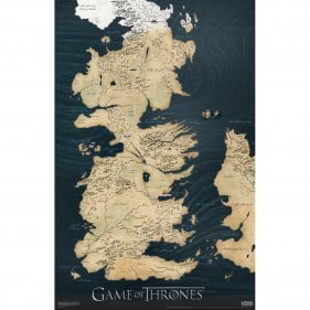 Game of Thrones Westeros Map Poster ($10)