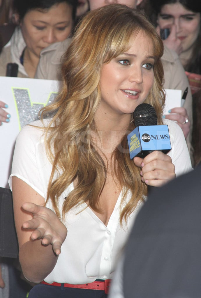 Jennifer Lawrence talked about The Hunger Games on Good Morning America.