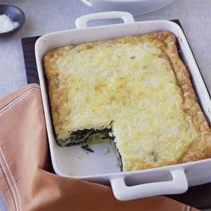 Swiss Chard and Ricotta Salata Egg Bake