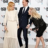 With Tom Hiddleston and Elisabeth Moss
