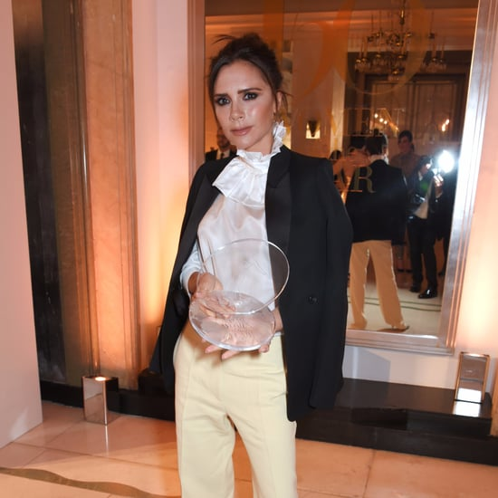 Victoria Beckham Yellow Pants at Harper's Bazaar Awards