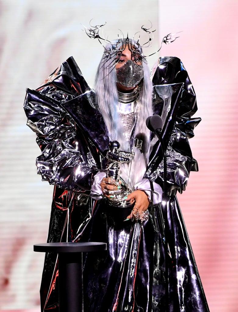 Lady Gaga's Sequined Mask at the 2020 VMAs