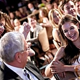 Katie Holmes Picks Up a Statue at the Crystal + Lucy Awards With the Support of Her Parents and Elle Fanning