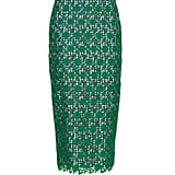 Stella Jean Floral-Lace Skirt with Gingham Lining (£433)