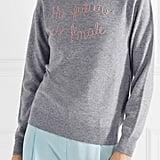 Lingua Franca Embroidered Cashmere Jumper
