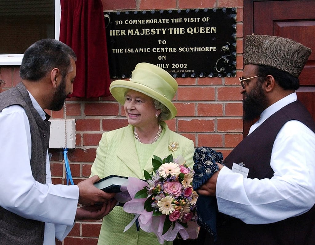 Visiting a UK mosque for the first time in 2002.
