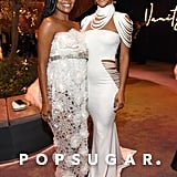 Gabrielle Union and Megalyn Echikunwoke at the Vanity Fair Oscars Party