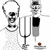 Frankenstein Pumpkin Stencil