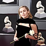 Miley Cyrus Black Jumpsuit at the Grammys 2018