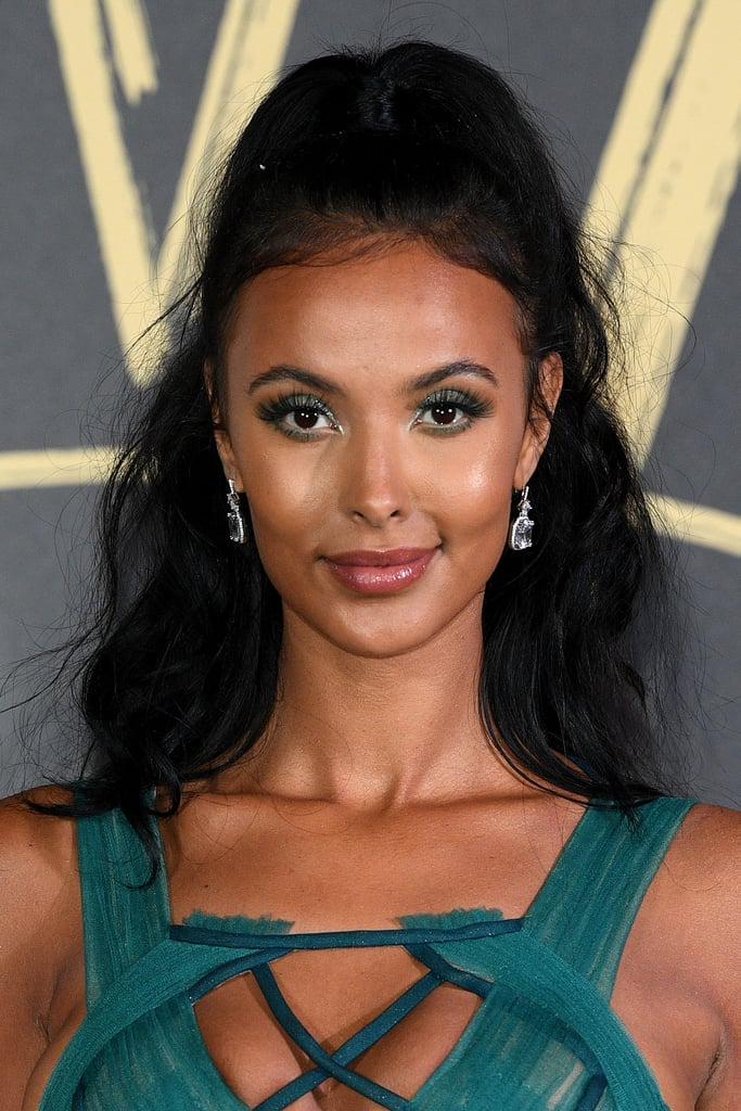 Maya Jama's Twinkly Green Lids and Lots of Lashes