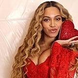 Beyoncé Wears Red Dress on Valentine's Day 2019