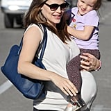 Seraphina Affleck and Jennifer Garner stayed close in LA in February.