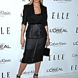 Uma Thurman stepped out in black to attend the Elle Women in Hollywood Awards in LA.