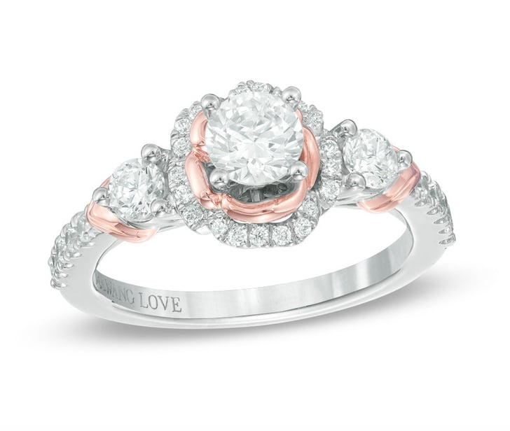 Zales Vera Wang Love Collection Engagement Ring In Two