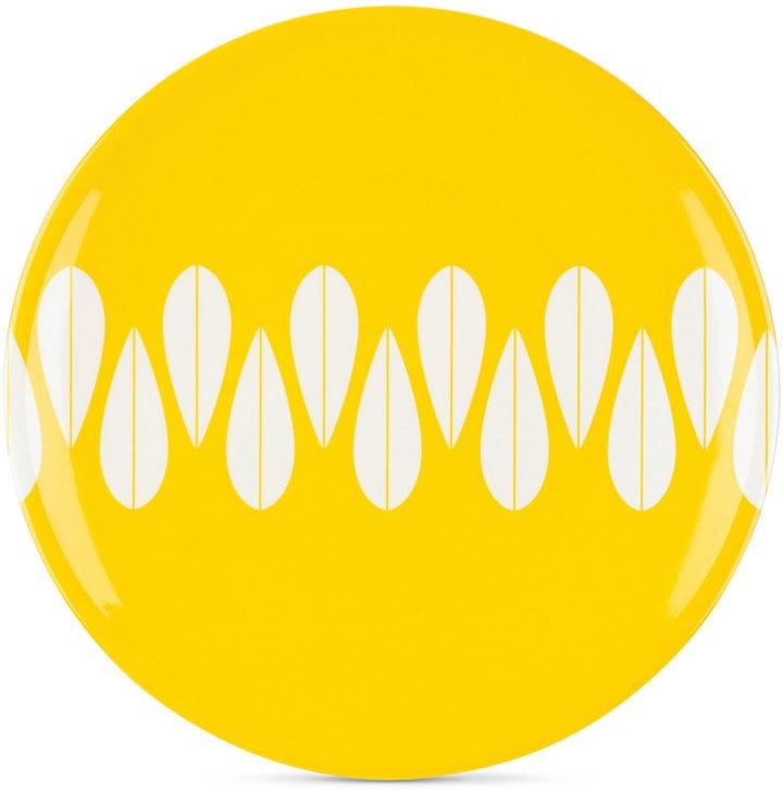 Dansk The Burbs Collection Melamine Sunflower Yellow Dinner Plate ($13)