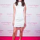 Kendall Worked a White Turtleneck Minidress at the Estée Lauder Dinner