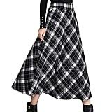 Gihuo Plaid Woollen Skirt